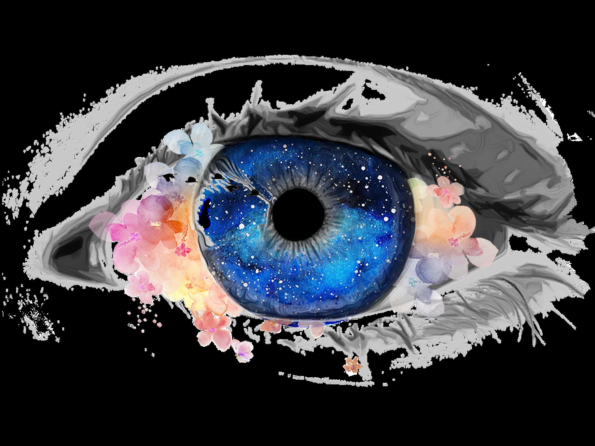 Rysunek niebieskiego oka